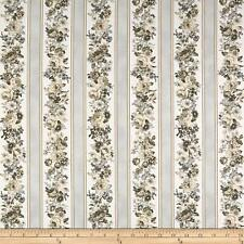 Mayfield Floral Cotton Fabric  obert Kaufman  Border StripeBy the Yard    BFab
