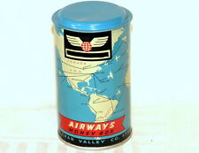 English Chad Valley Aviaition Airways Airplane Globe World Money Bank Tin 1960
