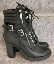 Stunning Womens Guess Buckle Ankle Boots Shoes Size 10M UK8