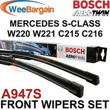 MERCEDES S-Class W220 W221 Genuine BOSCH A947S Aerotwin Front Wiper Blades Set