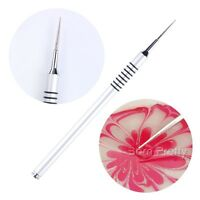 Nail Art Drawing Painting Pen Water Marble Silver Handle Manicure Tools Art Pens