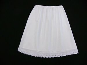 """Plus size White Half Slip Petticoat lengths from 23""""-40"""" size 16-18"""