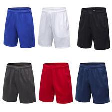 Para hombres pantalones cortos Secado Rápido Deportes Fitness Correr Baloncesto Elástica Pantalones De Entrenamiento