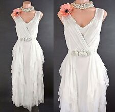 Nataya Vintage Style Dress S Ivory Ruffle Victorian Wedding Romantic Puffy NWT