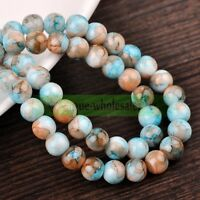 Wholesale 4mm/6mm/8mm/10mm/12mm Charms Round Glass Loose Spacer Beads Findings