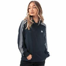 Женские Adidas Originals 3 полосками длинная толстовка в легенде чернила