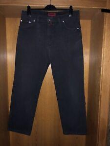 PIERRE CARDIN JEANS Herren Straight Fit Jeans Hose W36 L30 Denim schwarze Jeans