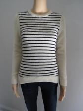 Derek Lam Cream Navy Stripes Cashmere Crewneck Long Sleeve Sweater Size S 645a5d59e