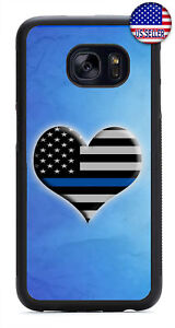 I Love The Police Cops Blue Line Rubber Case Cover Samsung Galaxy Note 10 + 9 8