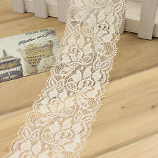 1 Yards Beautiful Lace Stretch Floral Lingerie Headband Elastic DIY lace Trims