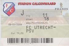 Sammler Used Ticket / Entrada FC Utrecht v PSV Eindhoven 08-2-2006