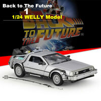 1:24 DeLorean Back To The Future 1 Time Machine Diecast Model Car Collection