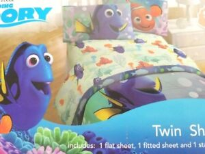 Disney Pixar Finding Dory Super Soft 3 piece Twin Sheet Set
