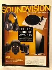 Sound & Vision Magazine Speakers Editors' Choice Awards Issues Jan 2013