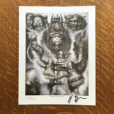 HR Giger Illuminatu Blotter Art (signed)