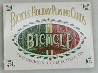 Bicycle Holiday Playing Cards Set W Collector Tin 2 Sealed Decks