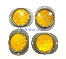 Military Vehicle New 4 Yellow Reflectors  MB GPW M38 M101 M100  M37 M38a1 M35