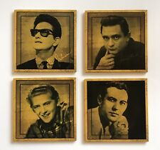 "SET Of 4 3"" Sun Records Jerry Lee Lewis Johnny Cash Roy Orbison Carl Perkins"
