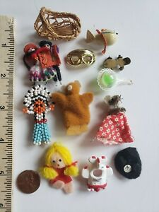 Miniature Vintage Dollhouse Lot Of Toys 1:12 some handcrafted Super Cute 12 pcs