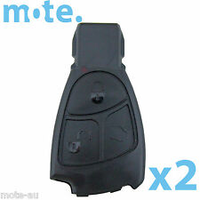 2 x Mercedes-Benz E C Class 3 Button Remote Key Replacement Shell/Case/Enclosure