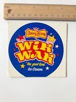 1970S AUSTRALIAN ICE CREAM STICKER DAIRY KING WIK-WAK MILK BAR PROMO EXC!