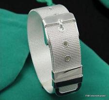 FASCIA DA BRACCIO CINTURA braccialetto 8 mm CATENA REALE GD ARGENTO pl. NUOVO