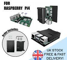 Raspberry Pi 4, CASE ARMOR Aluminum Alloy HEATSINK COOLING protective enclosure