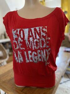 Tee-shirt Rouge Naf Naf Taille M