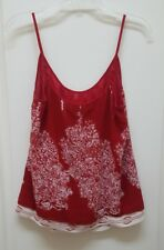 CAbi Women's Heart of Township Lined Spaghetti Strap Tank Top Red S Style #162