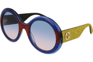 Gucci Women Sunglasses GG0101S 005 53 Multicolor Multi Treatment Lens