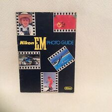 NIKON EM PHOTO GUIDE BOOK