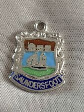 SAUNDERSFOOT Silver Travel Shield Enamel Charm