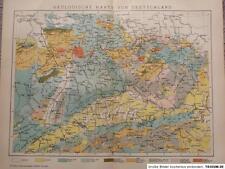 Geologische Karte von Deutschland, 1893, Brockhaus 14. Aufl.