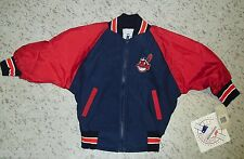 Cleveland Indians youth size 3 Jacket Vintage 90s Coat wTag Mint windbreaker zip