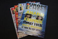 CHESS MAGAZINES Lot of 4 EUROPE ECHECS magazines Juin - Octobre 2008 Francais