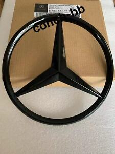 FRONT GRILLE STAR BADGE For MERCEDES-BENZ C Class C63 W204 2011-2014 Gloss Black