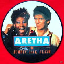 """Aretha Franklin Picture Disc Record 7"""" - Jumping jack flash"""