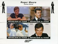 Chad 2018 MNH James Bond Roger Moore 007 4v M/S Movies Film Stamps