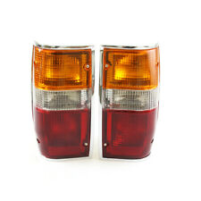 2X Tail Lights Chrome 87-96 Mitsubishi L200 Mighty Max Strada Dodge Colt Ram 50