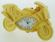 Novelty Speedbike Miniature Clock - Gold or Chrome Plated - IMP1016/1016S