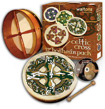 Irish 12 Inch Celtic Bodhran Pack - Various Designs