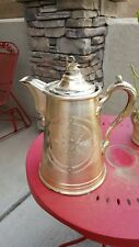 Antique Meriden Brit'A Co. silverplate double wall pitcher