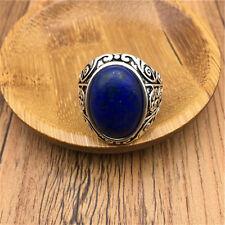 Vintage Men's Woman Alloy Silve Vogue Design Mini Stone Ring Size10 NEW