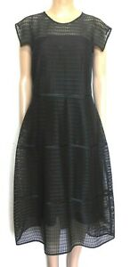 Veronika Maine black midi  net dress, sz. 16, NWOT