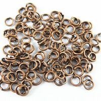 Retro Red Copper Alloy Open Jump Ring 9mm Charms Pendant Crafts Findings 50g