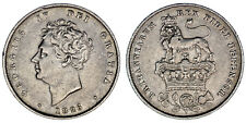 1 SHILLING GEORGE IV - 1 CHELÍN JORGE IV. Ag. UK / REINO UNIDO. 1826. VF+/MBC+