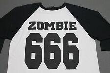 XL * vtg 90s 1996 WHITE ZOMBIE 666 raglan t shirt jersey * 53.109