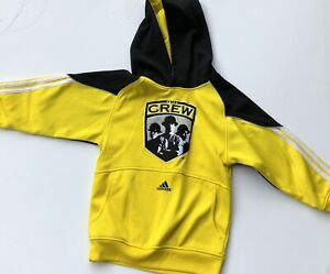 columbus crew adidas hooded sweatshirt small 8 youth