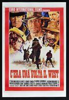 Plakat C'Era Ein Volta Die West Sergio Leone Bronson Cardinale Henry Fonda PP4