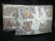 Pottery Barn Melody Paisley Floral King Quilted Sham S/ 2 #1297
